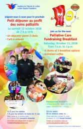 Continue reading: Lachine Hospital Foundation Fundraising Breakfast for Palliative Care
