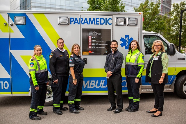 """For World Stroke Day, Hamilton ambulances will display """"FAST"""" decals to remind residents of the signs of stroke."""