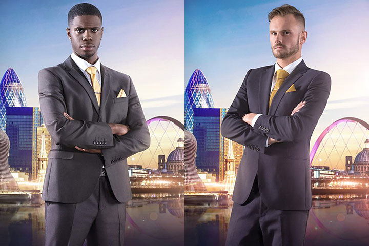 U.K.'s The Apprentice contestants Kayode Damali and Frank Brooks.