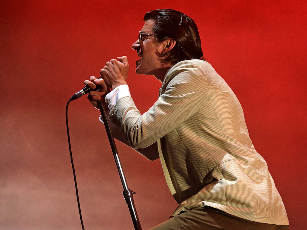 Alex Turner of Arctic Monkeys performs during the 12th Alive Music Festival in Oeiras, near Lisbon on July 12, 2018.
