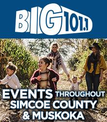 BIG 101.1 Events throughout Simcoe County & Muskoka