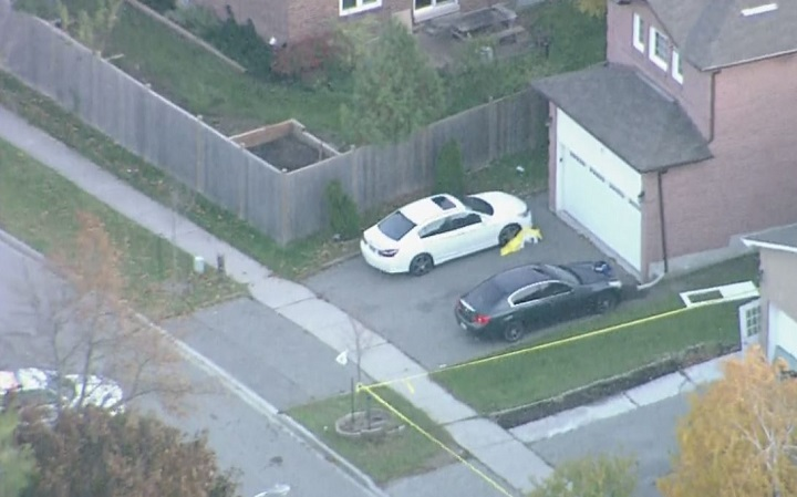 Police say a man is in critical condition after a shooting at a home on Kirk Drive in Brampton on Tuesday.