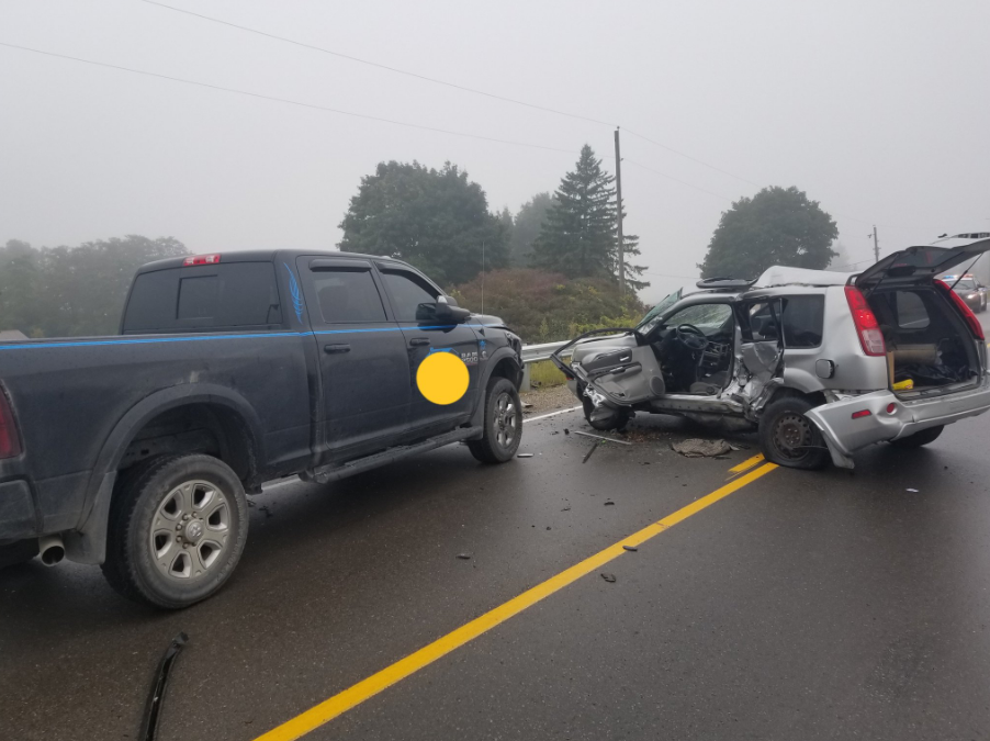 A 42-year-old man was pronounced dead at the scene after his SUV collided with a pickup truck.