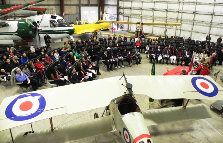 Over two dozen people become Canadian citizens at a special ceremony Tuesday at the Saskatchewan Aviation Museum.