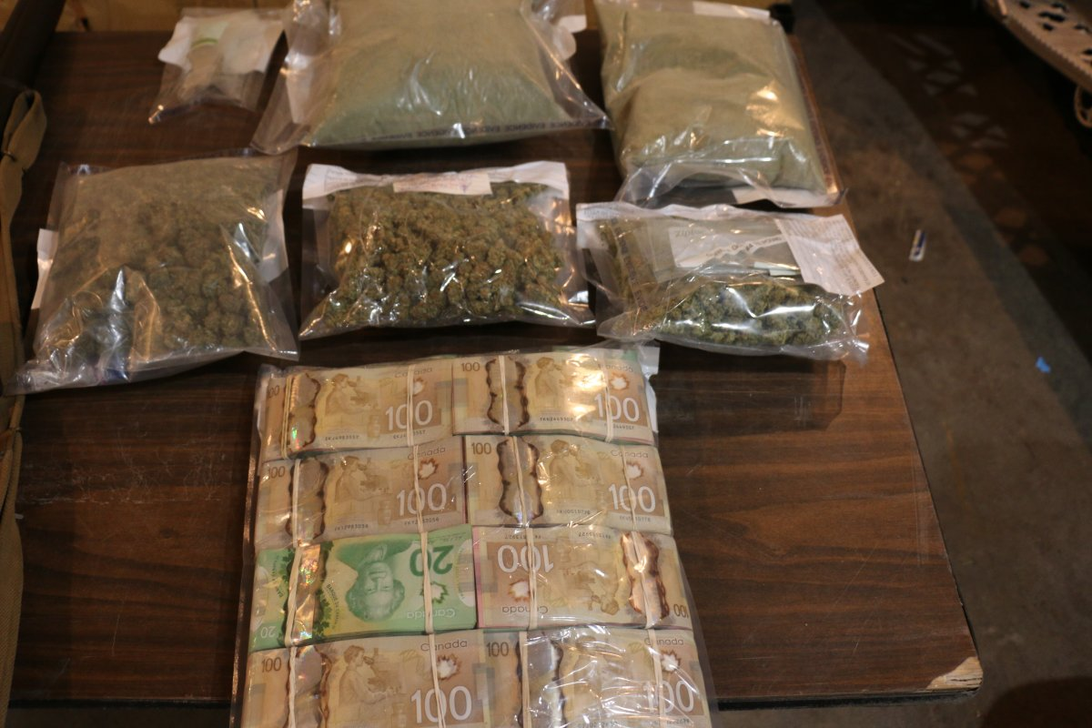 Flin Flon RCMP seized drugs, firearms and cash.