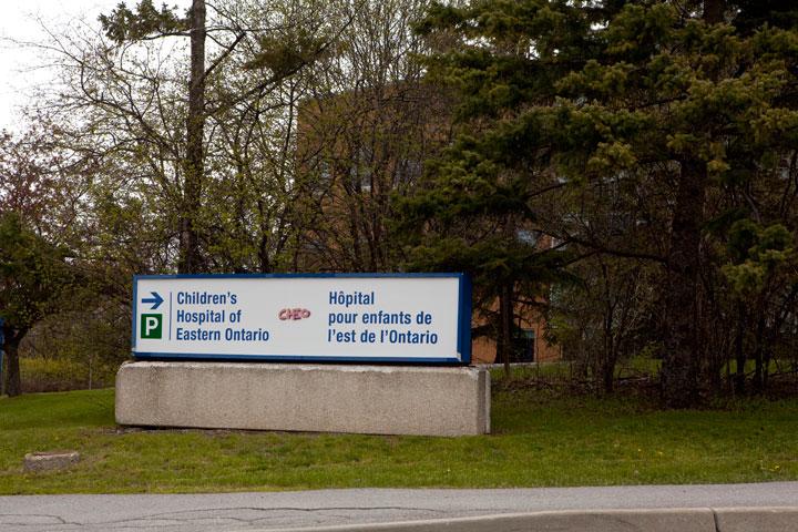 The Children's Hospital of Eastern Ontario in Ottawa.