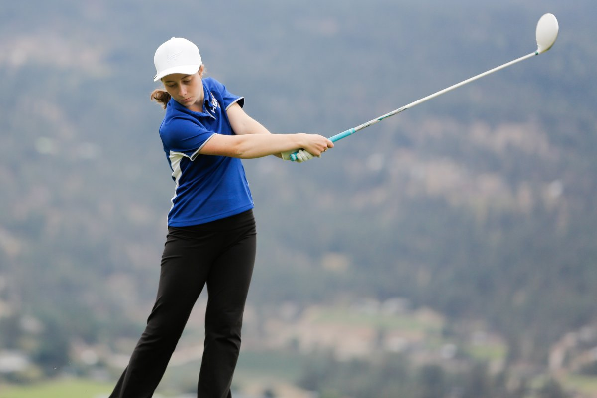 First-year golfer Samantha Copeland of UBC Okanagan has been named PacWest's Player of the Year.