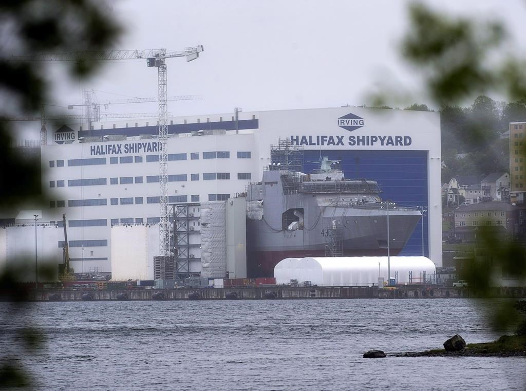 The Irving Shipbuilding facility is seen in Halifax on June 14, 2018. Shipbuilders at Halifax's Irving Shipyard have launched a campaign to keep shipbuilding work in Nova Scotia, as concerns mount over the possibility of repair work on Halifax-class navy ships being transferred to the Davie Shipyard in Quebec. THE CANADIAN PRESS/Andrew Vaughan.