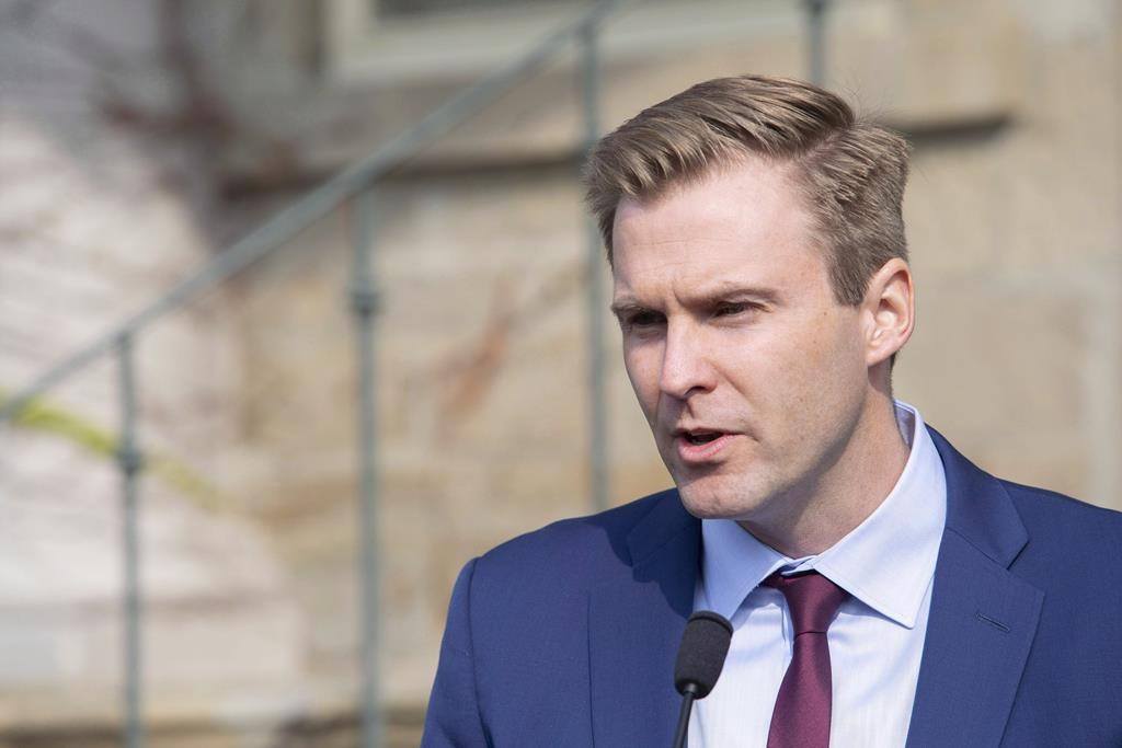 New Brunswick Liberal Leader Brian Gallant addresses the media after meeting with Lieutenant Governor of New Brunswick Jocelyne Roy-Vienneau, in Fredericton on Tuesday, Sept. 25, 2018.