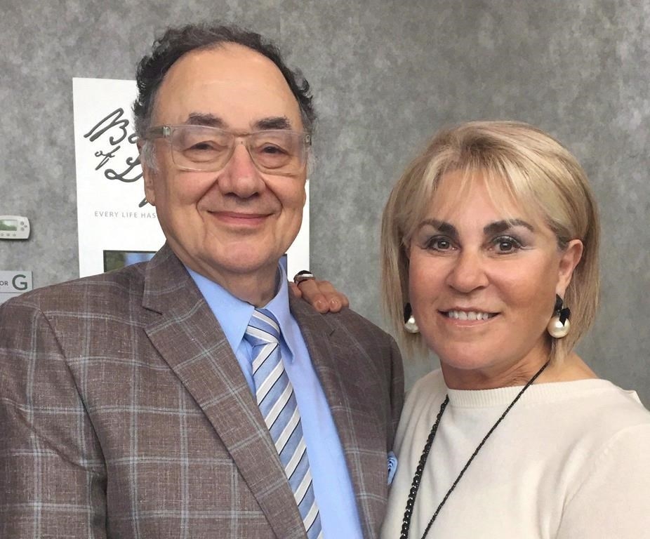 Barry and Honey Sherman are shown in a handout photo from the United Jewish Appeal. THE CANADIAN PRESS/HO-United Jewish Appeal MANDATORY CREDIT.