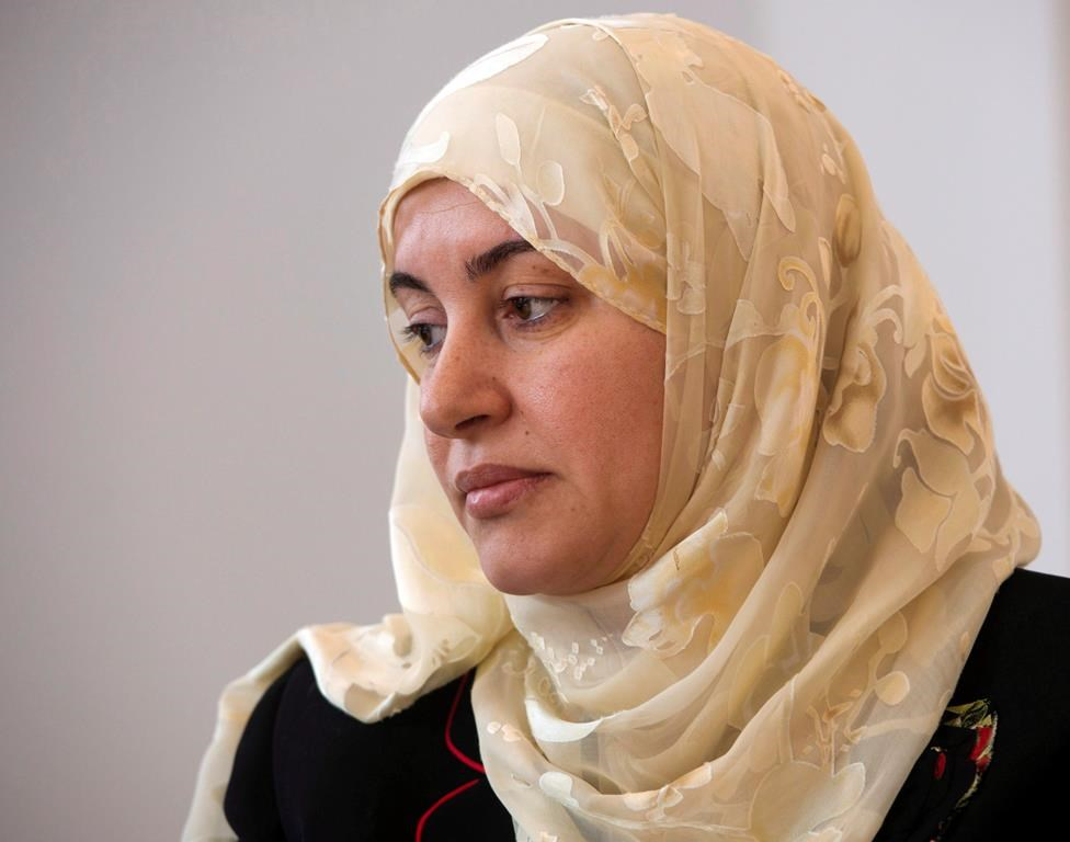 Rania El-Alloul, the woman who in 2015 was told by Quebec court judge Eliana Marengo to remove her hijab if she wanted her case to proceed, attended today's hearing.