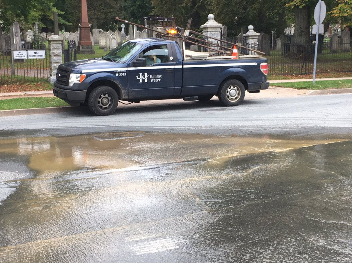 Halifax Water is repairing a broken water main at the intersection of Summer St. and Sackville St.