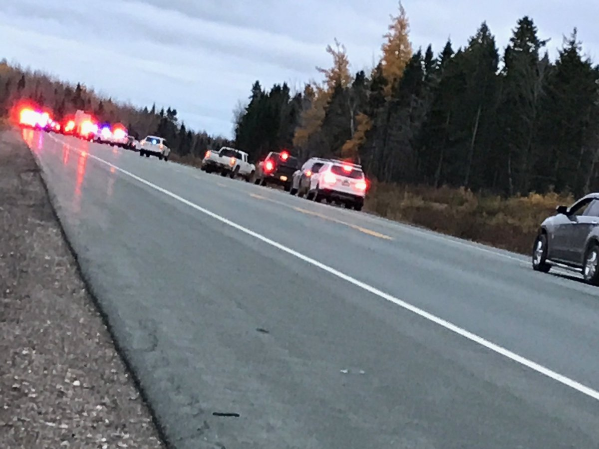 Miramichi police and RCMP arrested the suspect after a 70-kilometre chase. The suspect allegedly fired shots inside a Miramichi, N.B. Walmart.