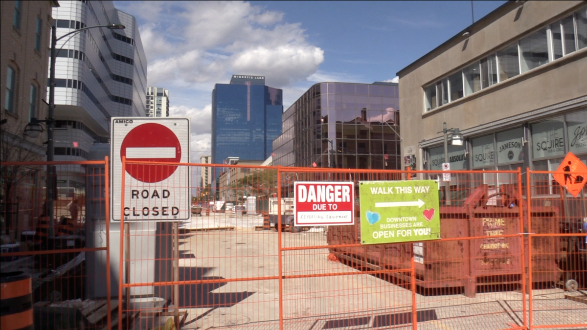 The Dundas Place construction is causing another set of closures in the downtown core on Dundas Street between Richmond Street and Wellington Street, and on Clarence Street between Queens Avenue and King Street.