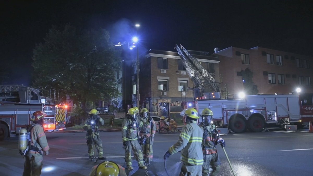 A fire destroyed Restaurant Onyx early Thursday morning. Montreal police are investigating the suspicious blaze. 04 October 2018.