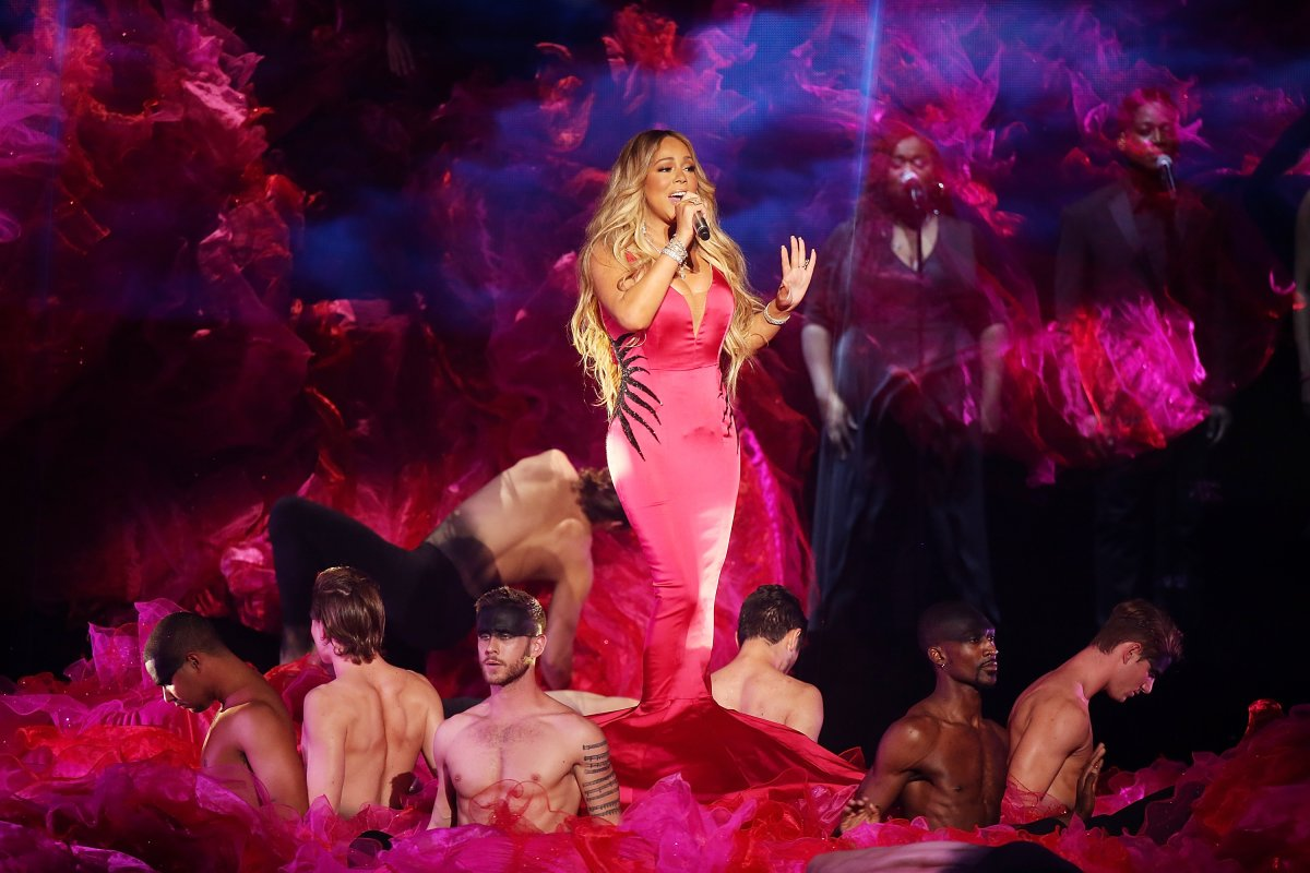 Mariah Carey performs onstage during the 2018 American Music Awards at Microsoft Theater on Oct. 9, 2018 in Los Angeles, Calif.