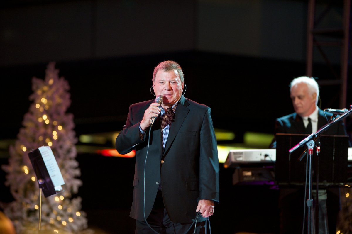 William Shatner performs at the Hollywood Christmas Parade on Dec. 1, 2013 in Hollywood, Calif.
