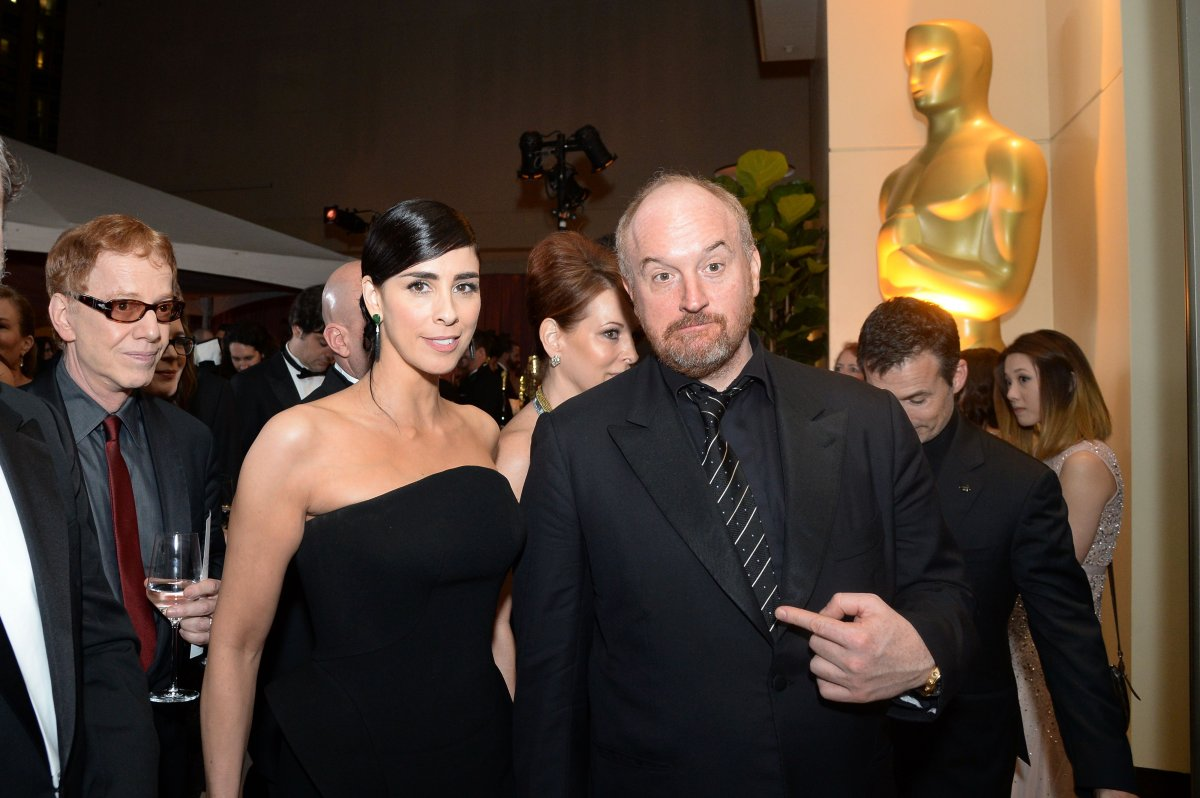 Sarah Silverman and Louis C.K. attend the 88th Annual Academy Awards Governors Ball at The Hollywood & Highland Center in Hollywood, California, on February 28, 2016.