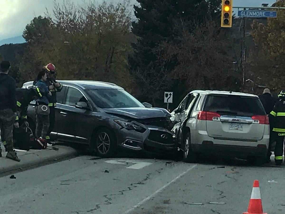 Alleged drunk driver blows three times the legal limit after multiple vehicle crash in Kelowna - image