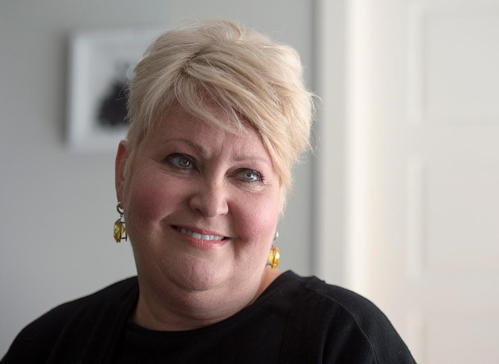 Audrey Parker, diagnosed with stage-four breast cancer which had metastasized to her bones and has a tumour on her brain, talks about life and death at her home in Halifax on Tuesday, Oct. 23, 2018. Parker, who is terminally ill and plans to end her life Thursday with medical assistance, says she has embraced her fate, sought the comfort of friends and wasted no time feeling sorry for herself in the two years since her diagnosis. THE CANADIAN PRESS/Andrew Vaughan.