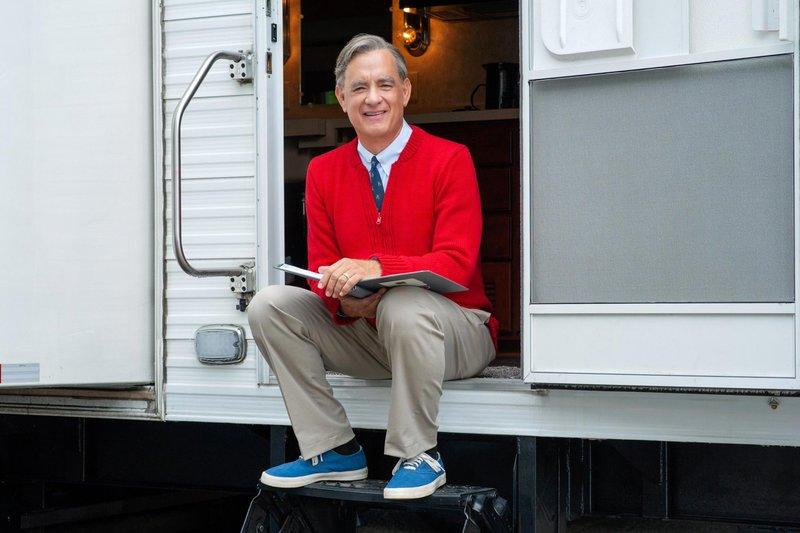 Tom Hanks as 'Mr. Rogers.'.