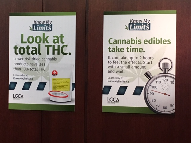 """Some of the messages as part of the """"Know My Cannabis Limits"""" campaign."""