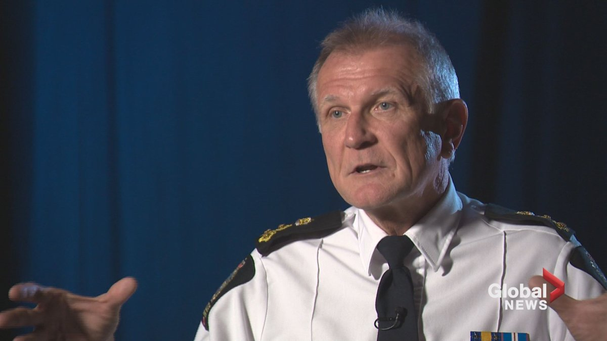 Edmonton police Chief Rod Knecht in October 2018.