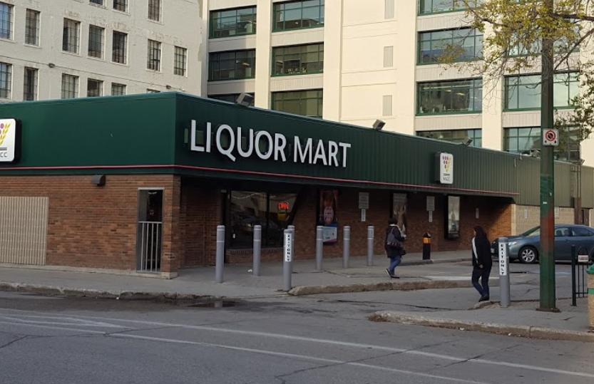 A  Manitoba Liquor Mart location.