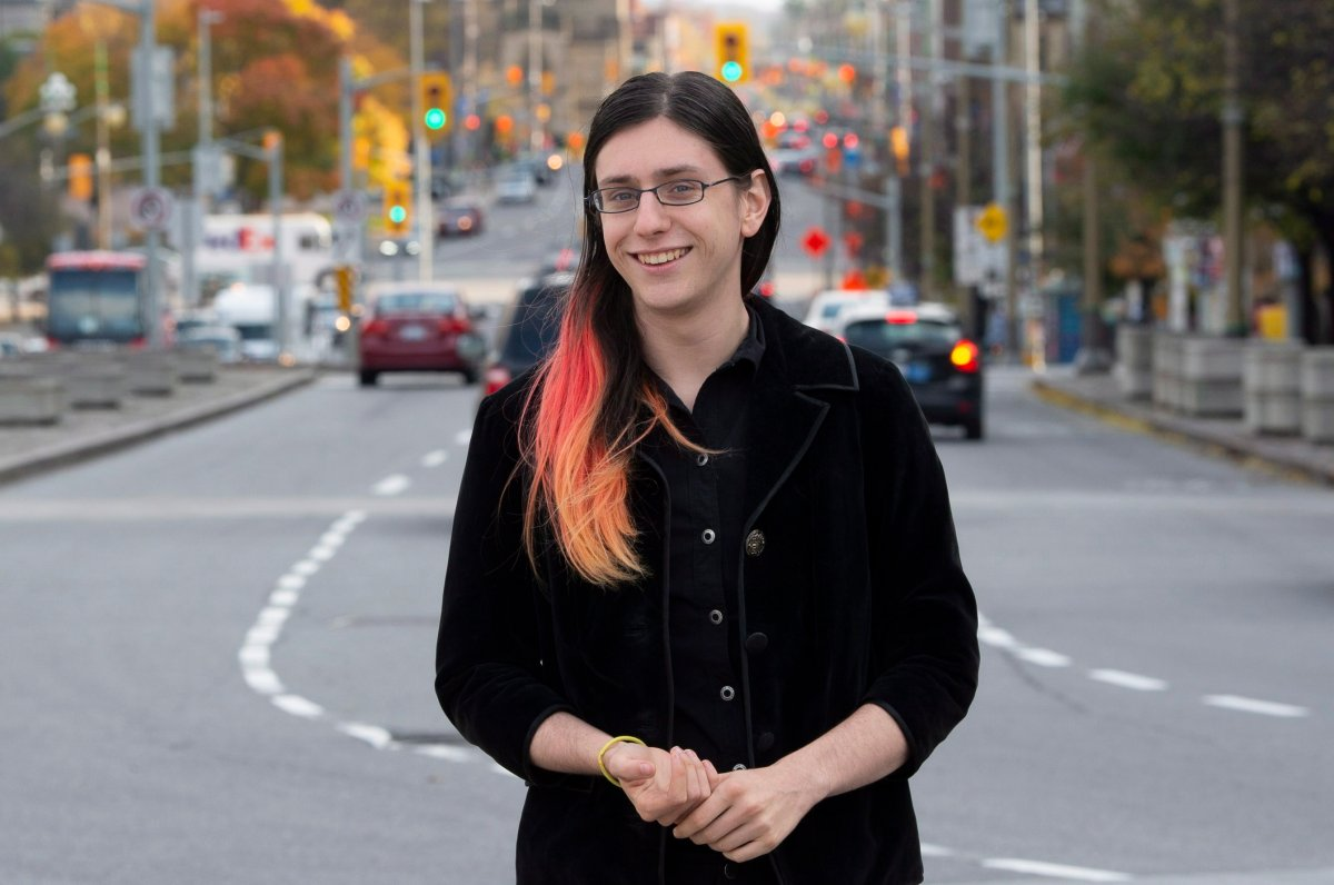 Lyra Evans poses for a photograph in Ottawa on Tuesday October 23, 2018. Evans will become the Zone 9 Ottawa-Carleton school trustee after garnering 55 per cent of the votes cast Monday in her district as part of Ontario's municipal elections.