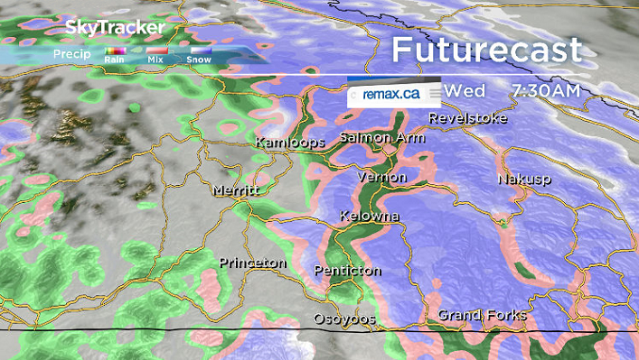 More organized rain and high elevation snow rolls in for Halloween on Wednesday.