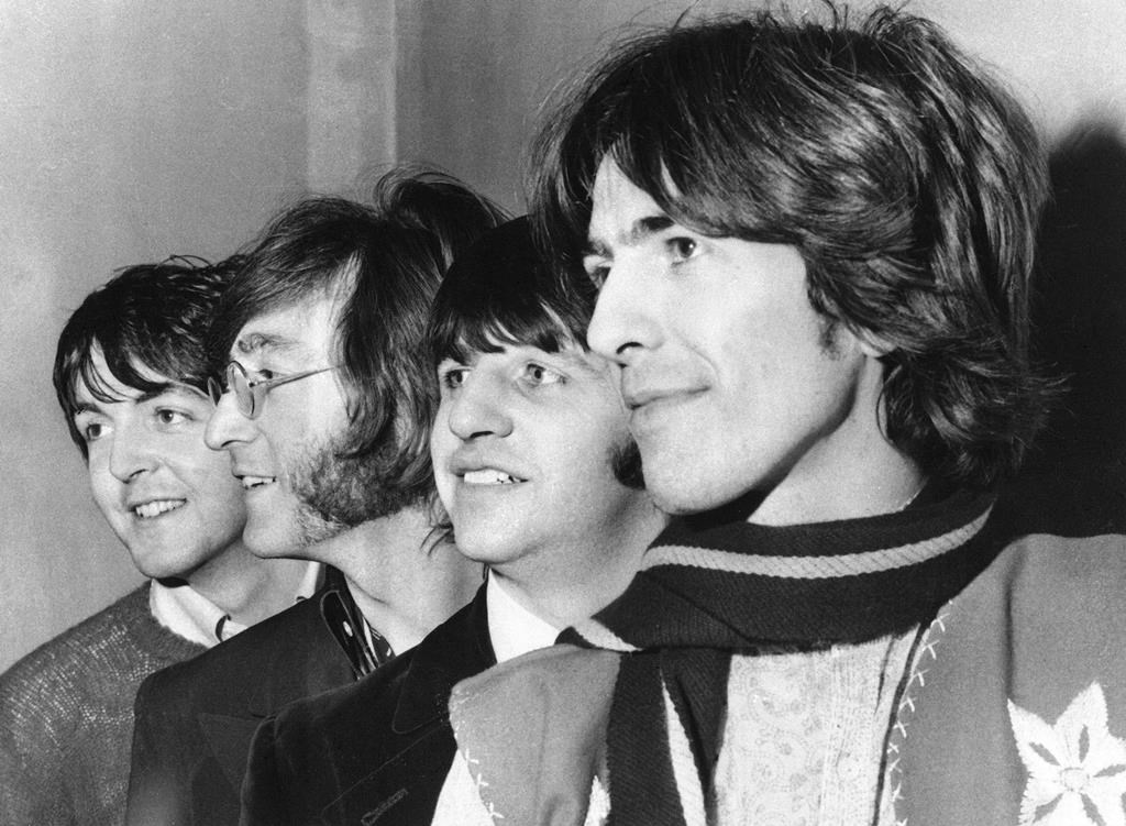 This Feb. 28, 1968 file photo shows The Beatles, from left, Paul McCartney, John Lennon, Ringo Starr and George Harrison.