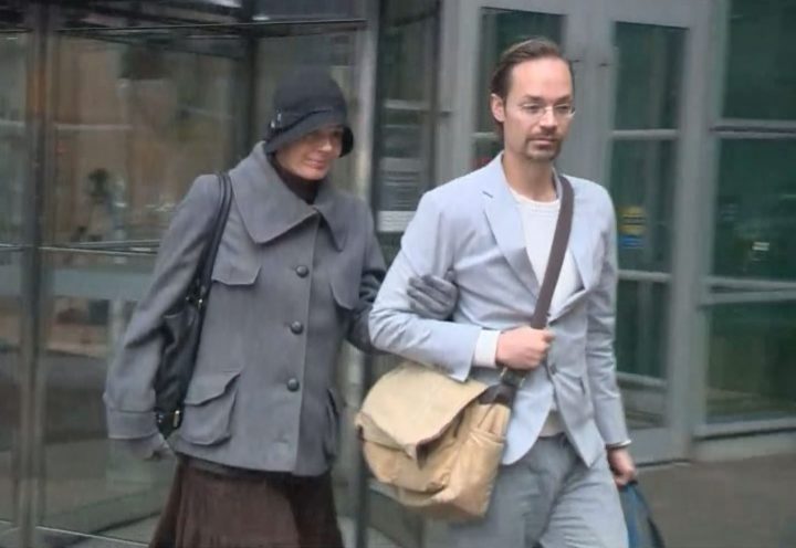 Jennifer and Jeromie Clark pictured leaving court in October 2018.