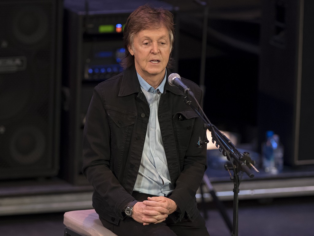 Sir Paul McCartney speaks and performs with 20 lucky fans at the Regal Theatre on November 30, 2017 in Perth, Australia.