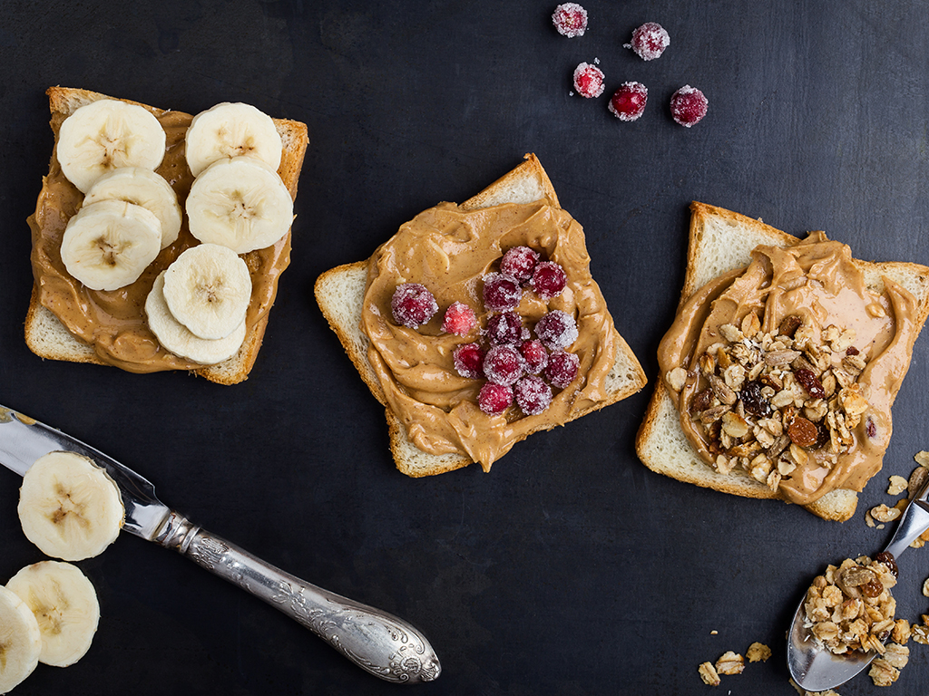Experts say it's best to eat peanut butter with another food, like an apple, to avoid overeating it.