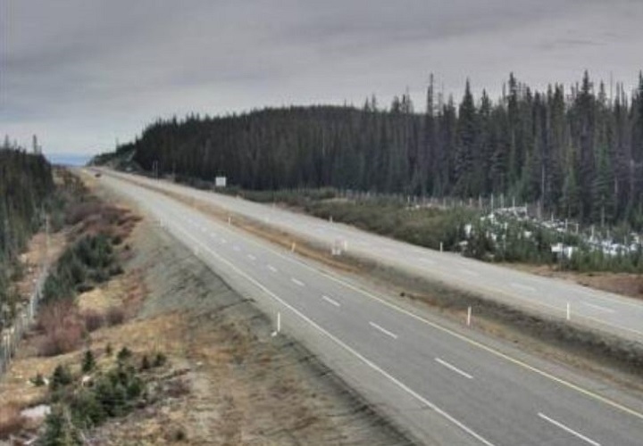 Though it's clear right now, overnight snow is projected for the Pennask Summit on the Okanagan Connector. The summit has an elevation of 1,717 metres.