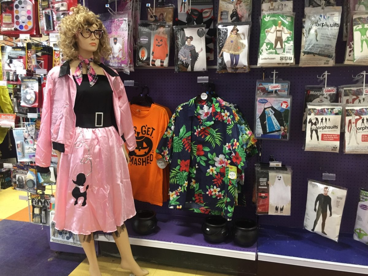 Classic costumes like Sandy from Grease are popular year after year with Winnipeggers.
