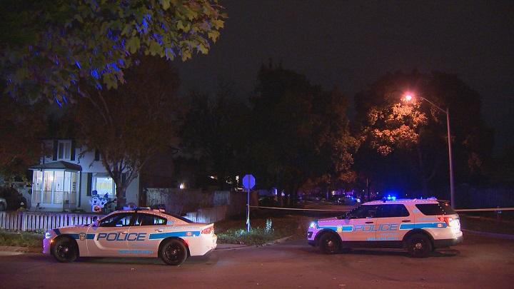 Peel Regional Police on the scene of a stabbing in Brampton on Friday night.