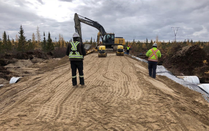 Rail work continues on the rail line to Churchill by Arctic Gateway.