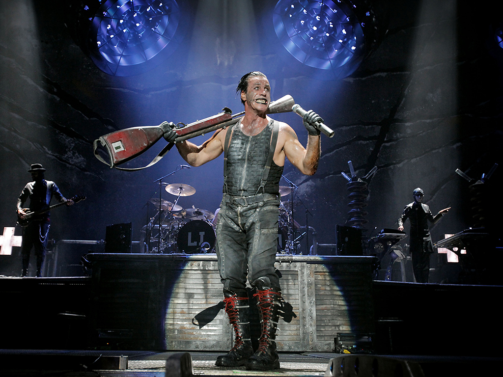 Rammstein frontman Till Lindemann at The Forum, in Inglewood, Calif. May 20, 2011.