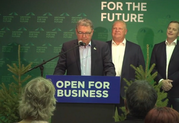 Yves Laflamme, CEO of Resolute Forest Products Inc., speaks about investments in northern Ontario on Oct. 25, 2018.