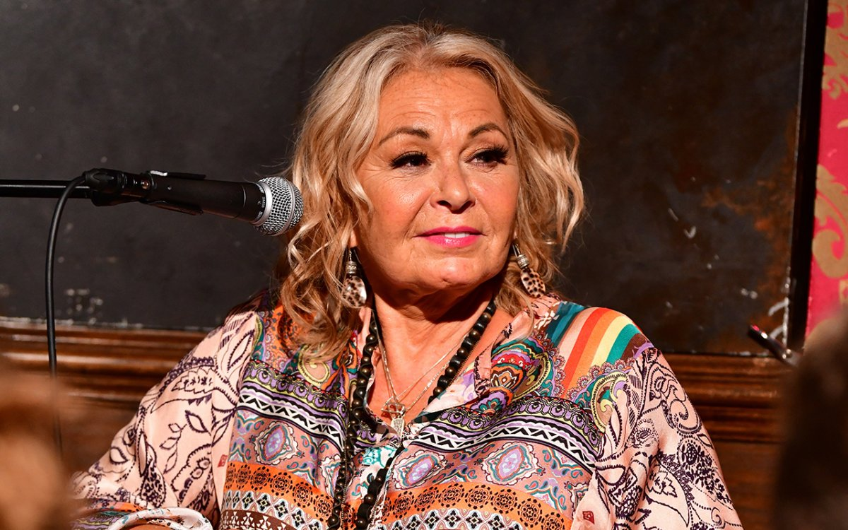 Roseanne Barr attends live podcast at Stand Up NY on July 26, 2018 in New York City.