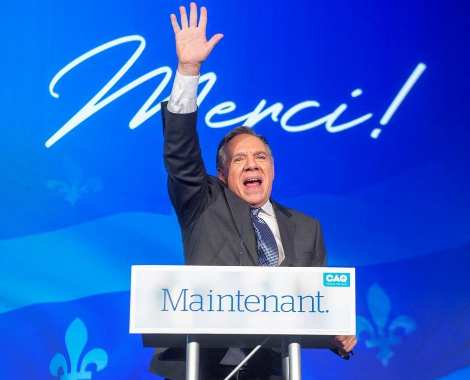 François Legault's Coalition Avenir Québec won the provincial election on Oct. 1, 2018.