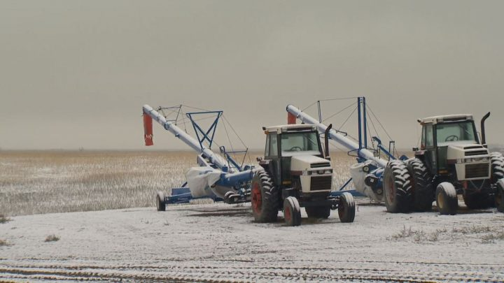 On the first day of October southern Saskatchewan woke up to a white blanket of snow covering the ground.