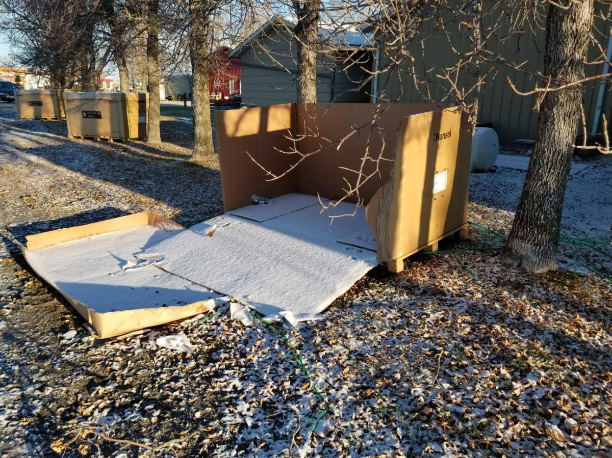 Four pallets of solar panels were stolen from a job site at Deacon's Corner on Oct. 14.
