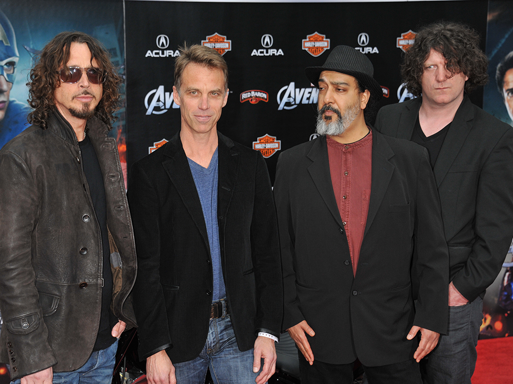 Soundgarden arrive at the world premiere of The Avengers held at the El Capitan Theater in Hollywood.