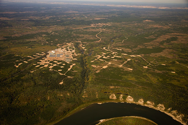 Aerial view of the Star-Orion South Diamond project east of Prince Albert, Sask.