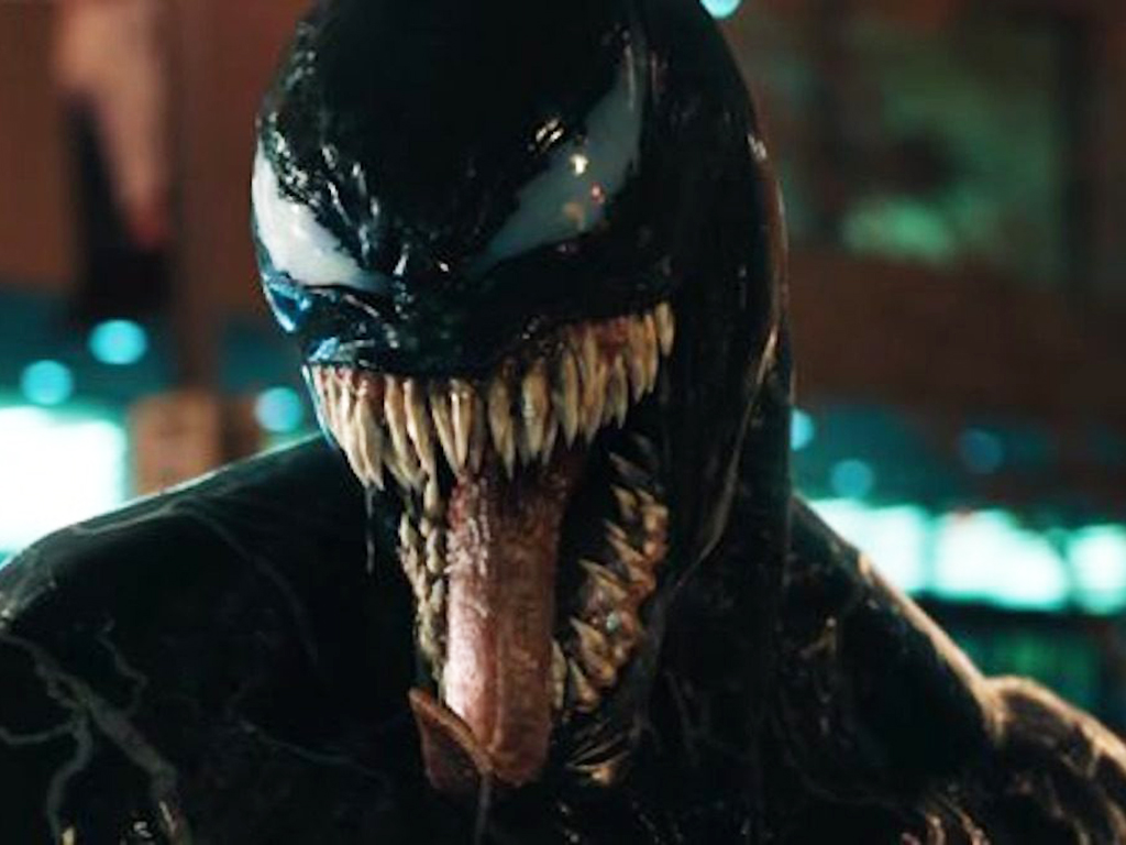 Tom Hardy stars as Venom in 'Venom.'.