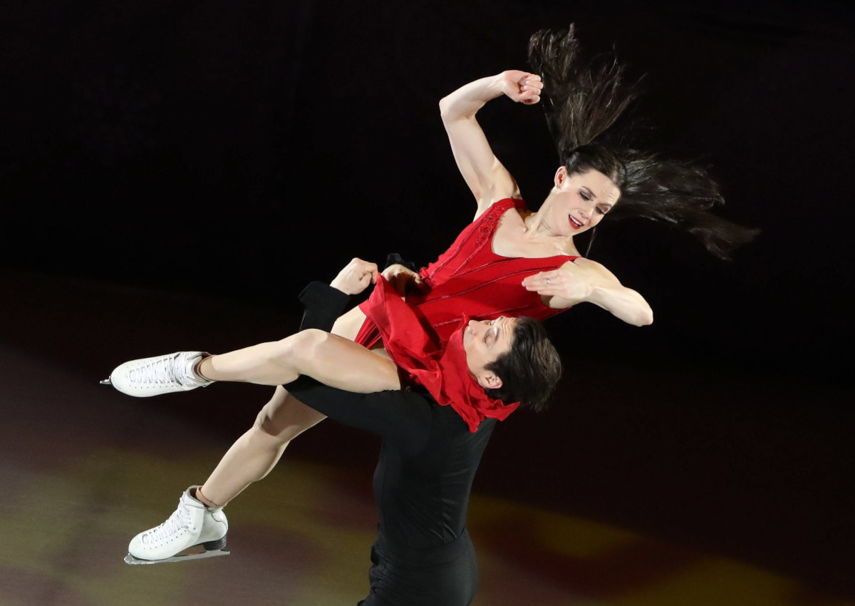 Tessa Virtue and Scott Moir perform during the Figure Skating Gala Exhibition at the Gangneung Ice Arena during the PyeongChang 2018 Olympic Games.