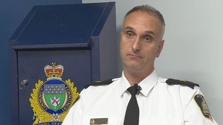 Insp. Max Waddell with the Winnipeg Police Service organized crime unit held a press conference Wednesday about a recent drug bust.