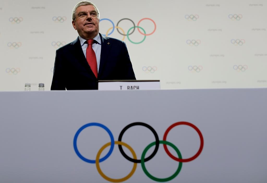 "IOC president Thomas Bach arrives for a press conference in Buenos Aires, Argentina, Thursday, Oct. 4. Calgary voted ""no"" to hosting the 2026 Olympic Games in a plebiscite on Nov. 13."